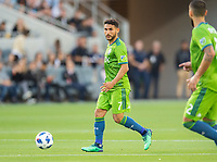Los Angeles, Ca. - The Los Angeles Football Club vs the Seattle Sounders in the LAFC's first home game at the Banc of California Stadium. Final score LAFC 1, Seattle 0.