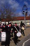 ADFRT6 Wickham Market Boys Brigade band Easter procession Suffolk England