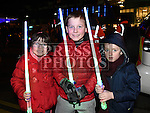 Ciara and Luke dalton and Rian Brennan at the Fireworks display sponsored by Funtasia at Scotch Hall Shopping Centre as part of the Drogheda Christmas BonanzaFestival. Photo:Colin Bell/pressphotos.ie