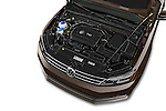 Car Stock 2015 Volkswagen Jetta 2.5L SEL 4 Door Sedan Engine high angle detail view