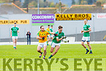 Michael Reidy St Kierans is tackled by Barry O'Dwyer South Kerry during their SFC QF clash in Fitzgerald Stadium on Sunday