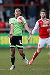 Alex Baptiste of Sheffield Utd chests the ball under control - English League One - Fleetwood Town vs Sheffield Utd - Highbury Stadium - Fleetwood - England - 5rd March 2016 - Picture Simon Bellis/Sportimage