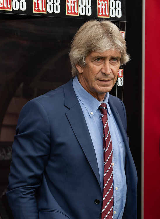 West Ham United manager Manuel Pellegrini<br /> <br /> Photographer David Horton/CameraSport<br /> <br /> The Premier League - Bournemouth v West Ham United - Saturday 28th September 2019 - Vitality Stadium - Bournemouth<br /> <br /> World Copyright © 2019 CameraSport. All rights reserved. 43 Linden Ave. Countesthorpe. Leicester. England. LE8 5PG - Tel: +44 (0) 116 277 4147 - admin@camerasport.com - www.camerasport.com