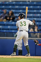 Lynchburg Hillcats outfielder Will Skinner (33) during a game against the Salem Red Sox on April 25, 2014 at Lewisgale Field in Salem, Virginia.  Salem defeated Lynchburg 10-0.  (Mike Janes/Four Seam Images)
