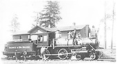 D&amp;RG #95 &quot;Embudo&quot; and her crew posing at the Del Norte depot in the 1880s.<br /> D&amp;RG  Del Norte, CO