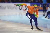 SCHAATSEN: HEERENVEEN: Thialf, Essent ISU World Cup, 02-03-2012, 500m, Stefan Groothuis (NED), ©foto: Martin de Jong