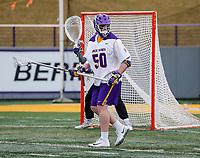 University at Albany Men's Lacrosse defeats Drexel 18-5 on Feb. 24 at Casey Stadium.  Sean Gleason (#50). (Photo by Bruce Dudek / Cal Sport Media/Eclipse Sportswire)