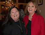 Connie Steinheimer and Lynne Simons during the Northern Nevada Women's Lawyer Association holiday benefit and party in Reno, Wednesday, Dec. 13, 2017.