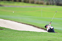 PATTAYA, THAILAND - FEBRUARY 22: Thidapa Suwannapura of Thailand out of the bunker on the 18th green during the second round of the Honda LPGA Thailand 2019 at Siam Country Club Pattaya (Old Course), Pattaya, Thailand on February 22, 2019.<br /> .<br /> .<br /> .<br /> (Photo by: Naratip Golf Srisupab/SEALs Sports Images)<br /> .<br /> Any image use must include a mandatory credit line adjacent to the content which should read: Naratip Golf Srisupab/SEALs Sports Images