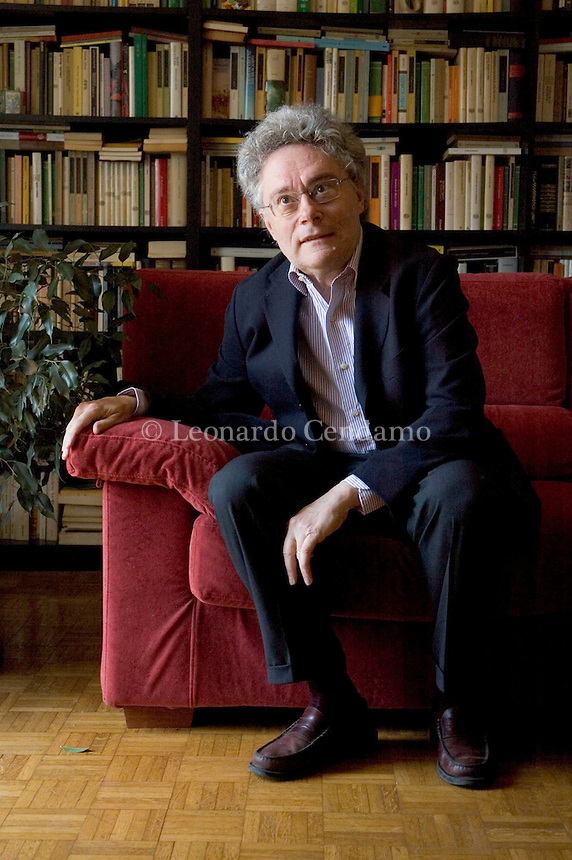 Milan, Italy, May, 2005. Maurizio Cucchi, Italian poet and writer.