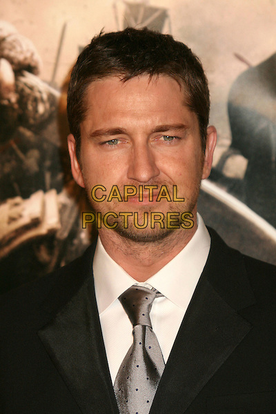 "GERARD BUTLER.""300"" Los Angeles Premiere at Grauman's Chinese Theatre, Hollywood, California, USA..March 5th, 2007.headshot portrait beard facial hair .CAP/ADM/BP.©Byron Purvis/AdMedia/Capital Pictures"