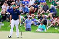 Tyrrell Hatton (ENG) on the 10th green during the 3rd round of the Waste Management Phoenix Open, TPC Scottsdale, Scottsdale, Arisona, USA. 02/02/2019.<br /> Picture Fran Caffrey / Golffile.ie<br /> <br /> All photo usage must carry mandatory copyright credit (© Golffile | Fran Caffrey)