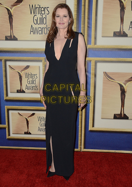13 February  - Los Angeles, Ca - Geena Davis. The 2016 Writer's Guild Awards - Press Room held at Hyatt Regency Century Plaza.  <br /> CAP/ADM/BT<br /> &copy;BT/ADM/Capital Pictures