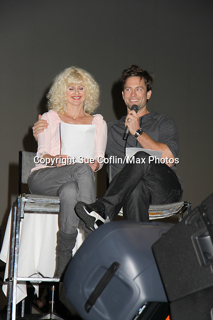 Michael Muhney and fan at the Soapstar Spectacular starring actors from OLTL, Y&R, B&B and ex ATWT & GL on November 20, 2010 at the Myrtle Beach Convention Center, Myrtle Beach, South Carolina. (Photo by Sue Coflin/Max Photos)