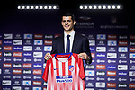 Alvaro Morata and Enrique Cerezo during the official presentation of Alvaro Morata as new player of Atletico de Madrid at Wanda Metropolitano Stadium in Madrid, Spain. January 29, 2019. (ALTERPHOTOS/A. Perez Meca) (ALTERPHOTOS/A. Perez Meca)