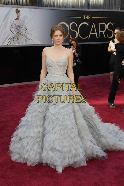 HOLLYWOOD, CA - FEBRUARY 24: Amy Adams arriving to the 85th Academy Awards at the Hollywood and Highland Center in Hollywood, California. February 24, 2013. <br /> CAP/MPI29<br /> &copy;MPI29/Capital Pictures