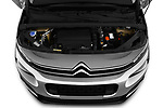 Car stock 2019 Citroen Berlingo Shine 5 Door MPV engine high angle detail view