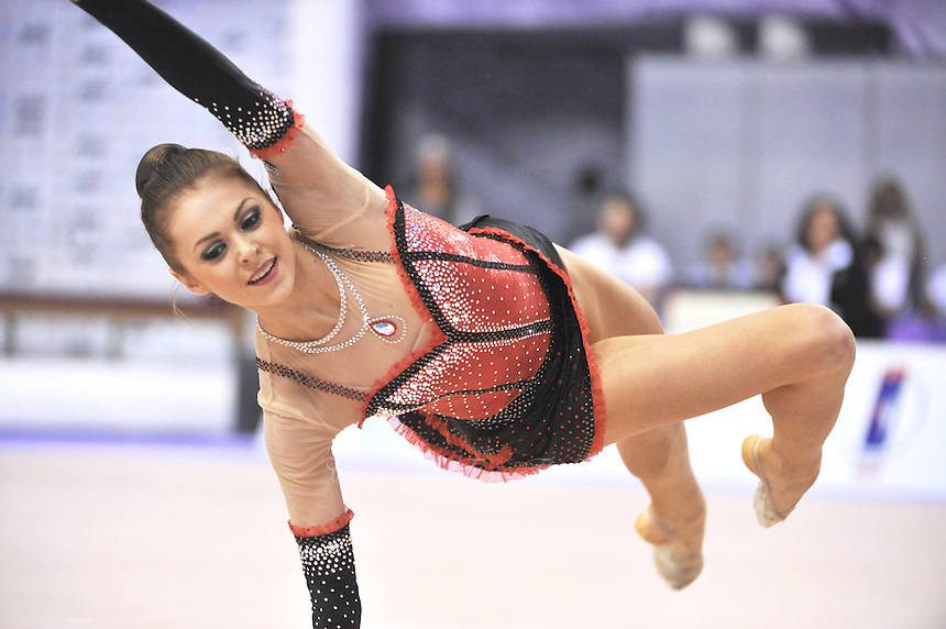 September 26, 2014 - Izmir, Turkey -  MARIYA MATEVA of Bulgaria performs at 2014 World Championships.
