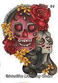 Sandra, STILL LIFE STILLEBEN, NATURALEZA MORTA, paintings+++++day of the dead skulls,GBSR04,#I#, EVERYDAY,skull