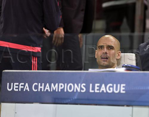23.02.2016. Turin, Italy. UEFA Champions League football. Juventus versus Bayern Munich.  Trainer Pep Guardiola (FC Bayern Munich) .