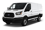 2019 Ford Transit Van 250 LR 4 Door Cargo Van angular front stock photos of front three quarter view