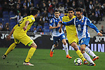 League Santander 2017-2018 - Game: 24.<br /> RCD Espanyol vs Villarreal CF: 1-1.<br /> Mario Gaspar vs Sergio Garcia.