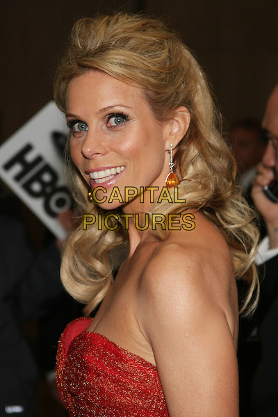 CHERYL HINES .Celebrity Sighting at the 67th Annual Golden Globes inside the Beverly Hilton hotel, Beverly Hills, CA, USA,.January 17th, 2010..globes portrait headshot smiling profile  strapless red old.CAP/LNC/ALB.©LNC/Capital Pictures