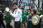 A Japanese Irish band perform during the 25th Annual St. Patrick's Day Parade on Sunday, March 19, 2017 in Tokyo, Japan.<br /> Photo by Kevin Clifford