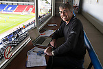 St Johnstone v Blackpool...25.07.15  McDiarmid Park, Perth.. Pre-Season Friendly<br /> PA Sports Editor Gordon Bannerman reporting on his final game working for the PA<br /> Picture by Graeme Hart.<br /> Copyright Perthshire Picture Agency<br /> Tel: 01738 623350  Mobile: 07990 594431