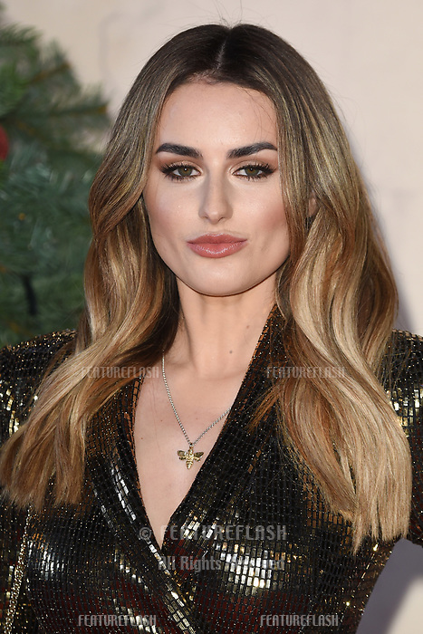 "LONDON, UK. November 21, 2018: Amber Davies at the ""Surviving Christmas with the Relatives"" premiere at the Vue Leicester Square, London.<br /> Picture: Steve Vas/Featureflash"