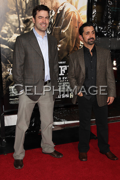 RON LIVINGSTON & JAMES MADIO. Arrivals to the Los Angeles Premiere of the HBO Miniseries The Pacific at Grauman's Chinese Theatre. Hollywood, CA, USA. .February 24, 2010.