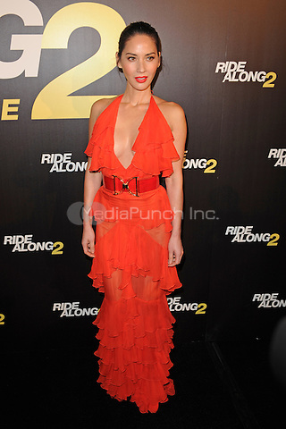 MIAMI BEACH, FL - JANUARY 06: Olivia Munn attends the world premiere of 'Ride Along 2' at Regal South Beach Cinema on January 6, 2016 in Miami Beach, Florida. Credit: mpi04/MediaPunch