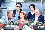 Tennis legend Ion Tiriac, Infanta Elena of Spain her daughter Victoria Federica de Todos los Santos de Marichalar y Borbon and King Juan Carlos I of Spain during Madrid Open Tennis 2016 match.May, 3, 2016.(ALTERPHOTOS/Acero)