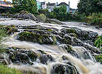 View of the rapids of the Sneem River, Sneem, County Kerry, Ireland
