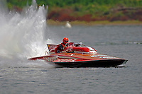 "GP-1001 ""Miss Dinomytes"" 1986 Grand Prix class Lauterbach hydroplane.Madison Regatta, Madison Indiana July 3, 2005.Photo Credit: ©F.Peirce Williams 2005"