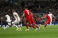 Joshua Kimmich of Bayern Munich scores the first Munich goal during Tottenham Hotspur vs FC Bayern Munich, UEFA Champions League Football at Tottenham Hotspur Stadium on 1st October 2019