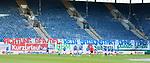 Rostock Deutschland 23.06.2020  Fussball  3.Liga FC Hansa Rostock - 1.FC Kaiserslautern<br /> <br /> Banner der Fans an den DFB von den Fans im leeren Stadion<br /> <br /> Foto © PIX-Sportfotos *** Foto ist honorarpflichtig! *** Auf Anfrage in hoeherer Qualitaet/Aufloesung. Belegexemplar erbeten. Veroeffentlichung ausschliesslich fuer journalistisch-publizistische Zwecke. For editorial use only. DFL regulations prohibit any use of photographs as image sequences and/or quasi-video.