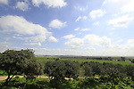 Israel, Sharon region, a view east from Hurvat Kakun, site of the Crusader Caco fortress