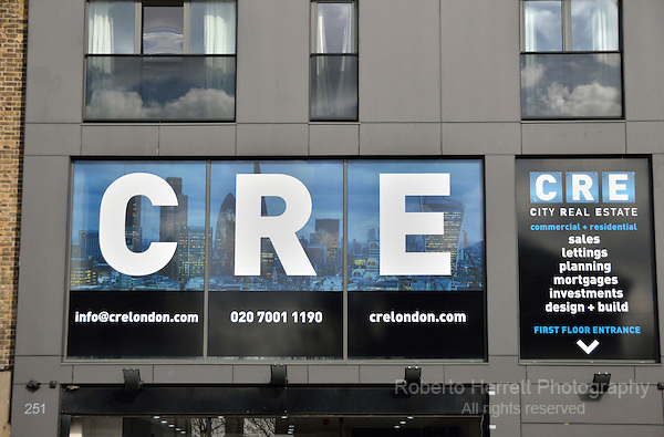 CRE City Real Estate offices in Commercial Road, London, UK