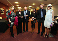 Pictured: Kate Rees (L) and Alan Tate and wife (far R). Wednesday 10 April 2013<br /> Re: Swansea footballer Angel Rangel and wife Nicky's cancer charity fundraising dinner at the Liberty Stadium.