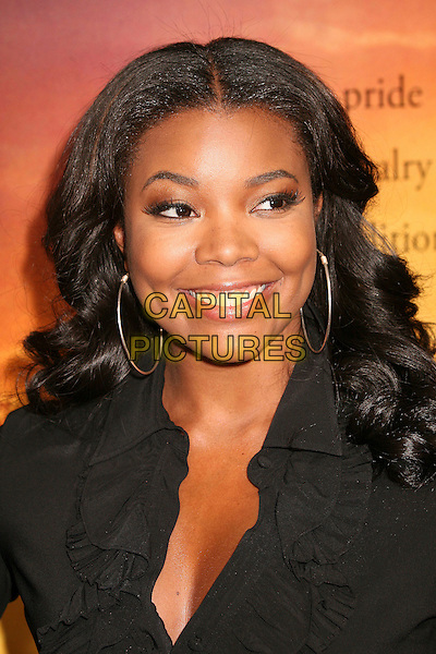 "GABRIELLE UNION .""Stomp The Yard"" Los Angeles Premiere at Arclight Cinemas, Hollywood, California, USA, 8 January 2007..portrait headshot hoop earrings.CAP/ADM/BP.©Byron Purvis/AdMedia/Capital Pictures."