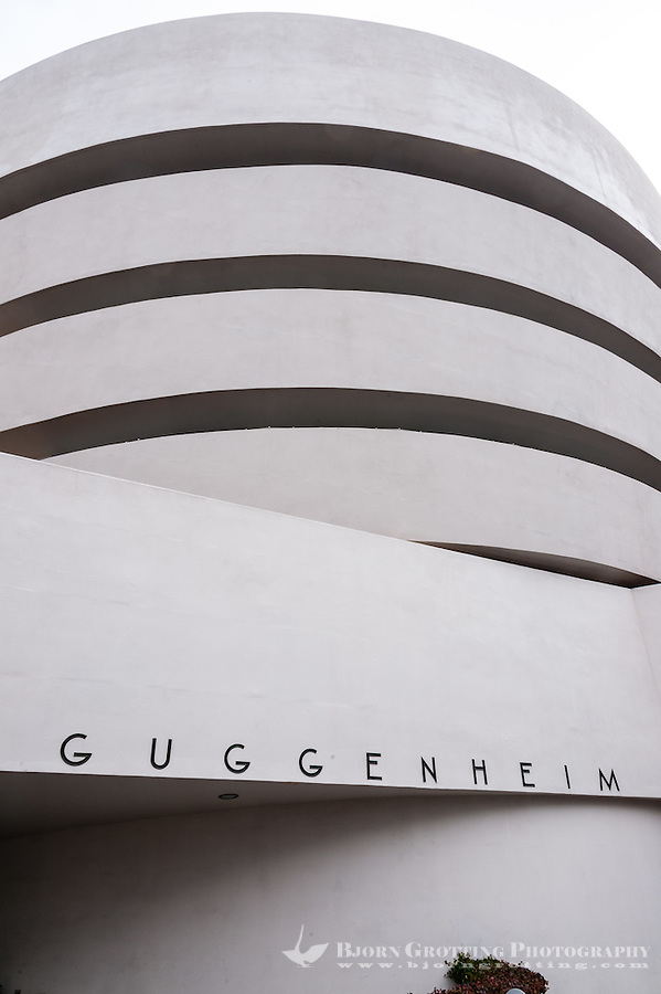 US, New York City. The Solomon R. Guggenheim Museum on the Upper East Side of Manhattan.