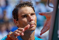 Paris, France, 02 June, 2018, Tennis, French Open, Roland Garros, Rafael Nadal (ESP) shake the hand of the umpire after his match<br /> Photo: Henk Koster/tennisimages.com