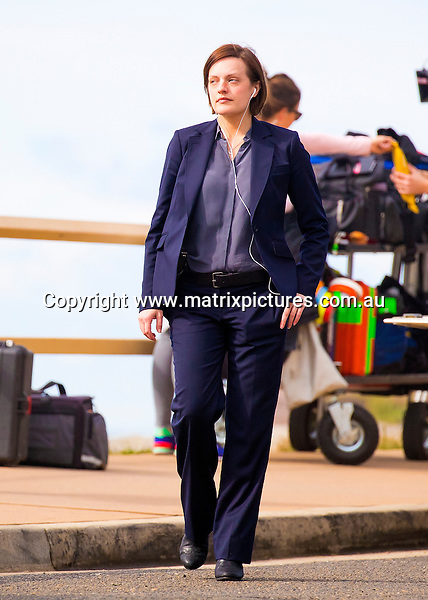 7 JUNE 2016 NOOSA AUSTRALIA<br /> WWW.MATRIXPICTURES.COM.AU<br /> <br /> EXCLUSIVE PICTURES<br /> <br /> Elizabeth Moss pictured on set of Top Of The Lake filming at Maroubra. <br /> <br /> <br /> *ALL WEB USE MUST BE CLEARED*<br /> <br /> Please contact prior to use:  <br /> <br /> +61 2 9211-1088 or email images@matrixmediagroup.com.au <br /> <br /> Note: All editorial images subject to the following: For editorial use only. Additional clearance required for commercial, wireless, internet or promotional use.Images may not be altered or modified. Matrix Media Group makes no representations or warranties regarding names, trademarks or logos appearing in the images.