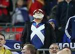 A Scotland fan wears a poopy on his shirt during the FIFA World Cup Qualifying Group F match at Wembley Stadium, London. Picture date: November 11th, 2016. Pic David Klein/Sportimage