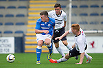 Raith Rovers v St Johnstone...12.07.14  Pre-Season Friendly<br /> Craig Thomson is tackled by Ross Matthews and David Bates<br /> Picture by Graeme Hart.<br /> Copyright Perthshire Picture Agency<br /> Tel: 01738 623350  Mobile: 07990 594431