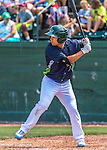 2 August 2016: Vermont Lake Monsters outfielder Tyler Ramirez in action against the Connecticut Tigers at Centennial Field in Burlington, Vermont. The Tigers defeated the Lake Monsters 7-1 in NY Penn League play.  Mandatory Credit: Ed Wolfstein Photo *** RAW (NEF) Image File Available ***
