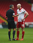 Sheffield United's Conor Sammon remonstrates with the referee - Sheffield United vs Coventry City - SkyBet League One - Bramall Lane - Sheffield - 13/12/2015 Pic Philip Oldham/SportImage
