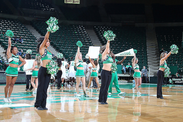 DENTON, TX - DECEMBER 18: North Texas Mean Green dancers during a time out between the University of North Texas Mean Green women's basketball and the University of Texas at Arlington Mavericks at the UNT Coliseum on December 18, 2012 in Denton, Texas. (Photo by Rick Yeatts)