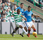 29.04.18 Celtic v Rangers: Oliver Ntcham with Daniel Candeias and Graham Dorrans